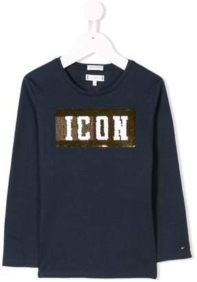 Tommy Hilfiger Junior icon sequin top