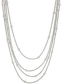 Diamonique Italian Silver 72 DiamondCut Necklace