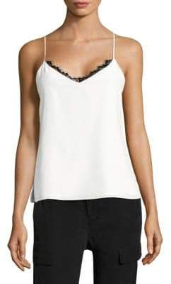 L'Agence Lia Lace-Trimmed Silk Camisole