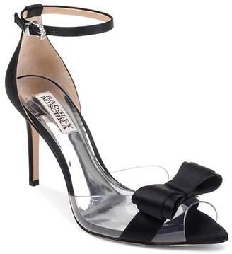 b1dd941354 Badgley Mischka Women's Lindsay Clear Peep Toe Pumps