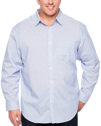 6238823c6f4 Van Heusen Slim Traveler Performance Non-Iron Woven Long Sleeve Checked  Button-Front Shirt