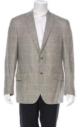 Etro Glen Plaid Wool Blazer