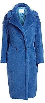 Max Mara Women's Bright Alpaca Fur, Virgin Wool & Silk Teddy Coat