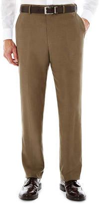 STAFFORD Stafford Travel Flat-Front Sharkskin Dress Pants - Classic
