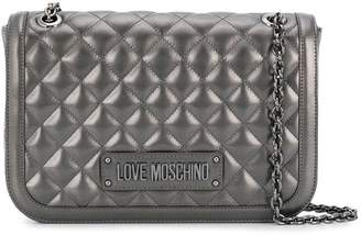 Love Moschino quilted logo tote