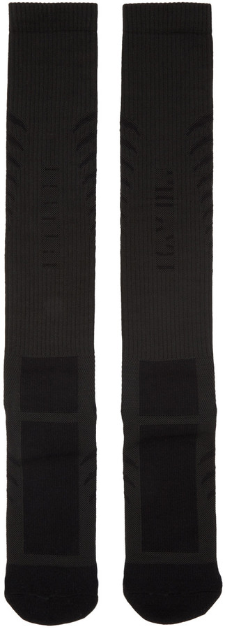 Unravel Black Back Bone Socks