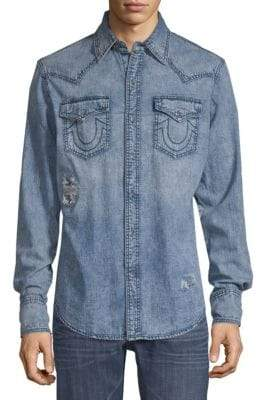 True Religion Long Sleeve Western Shirt