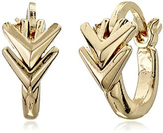 Sam Edelman Double V Huggie Hoop Earrings