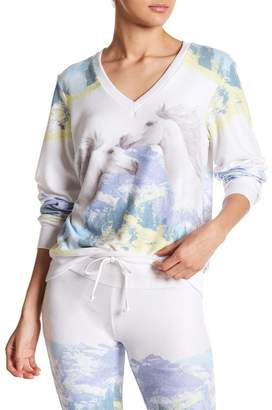 Wildfox Couture Wild Horses Baggy Beach V-Neck Jumper