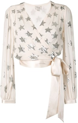 Temperley London Starlet sequin wrap blouse
