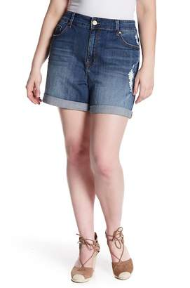 Melissa McCarthy Relaxed Denim Shorts (Plus Size)