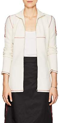 MM6 MAISON MARGIELA Women's Waffle-Knit Zip-Front Top - White