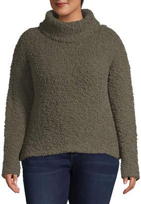 Arizona Womens Turtleneck Long Sleeve Pullover Sweater