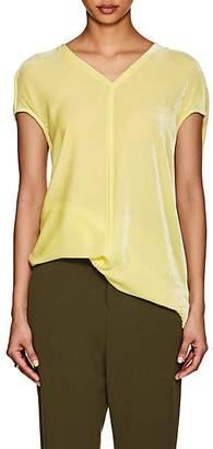 Rick Owens Women's Velvet Cap-Sleeve Tunic - Lime