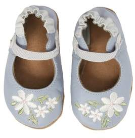 Robeez R) Pretty in Blue Mary Jane Crib Shoe