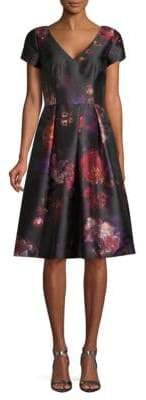 David Meister Floral Cocktail Dress