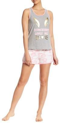 Couture PJ Bunny Print Racerback Tank & Shorts PJ Set