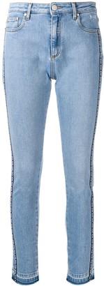 MSGM logo band skinny jeans