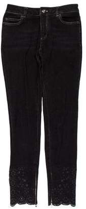 Chanel Mid-Rise Laser Cut Jeans