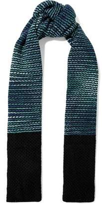 M Missoni Crochet-Knit Wool Scarf