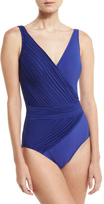 Gottex Pearl Goddess V-Neck One-Piece Swimsuit $178 thestylecure.com