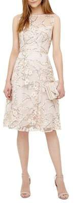 Phase Eight Embellished Floral Mesh Fit-&-Flare Dress
