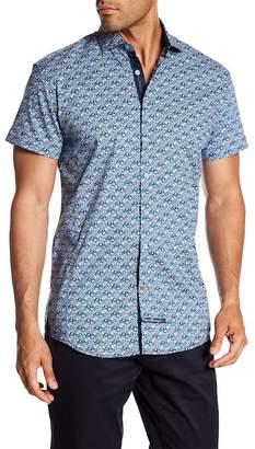 English Laundry Oval Print Classic Fit Short Sleeve Shirt