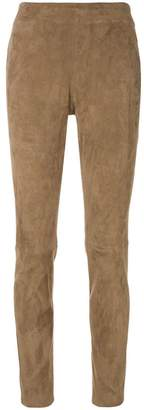 Fabiana Filippi suede high rise leggings