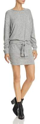 Splendid Addison Tie-Front Sweatshirt Dress
