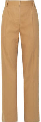 The Row Thea Linen And Cotton-blend Pants - Sand