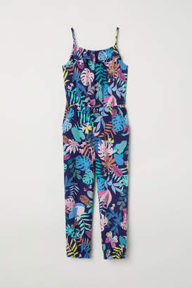 H&M Patterned Jumpsuit - Blue