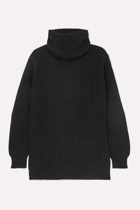 &Daughter Inver Ribbed Merino Wool And Cashmere-blend Turtleneck Sweater - Black