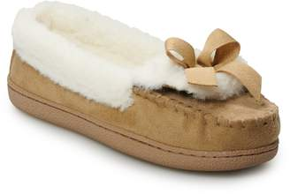 Sonoma Goods For Life Women's SONOMA Goods for Life Faux-Fur Lined Microsuede Moccasin Slippers