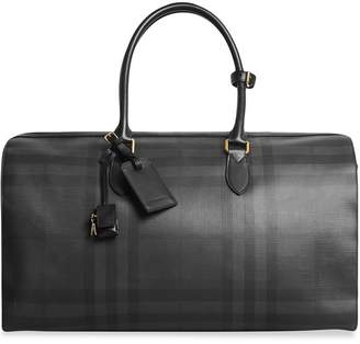 Burberry Leather Trim London Check Holdall