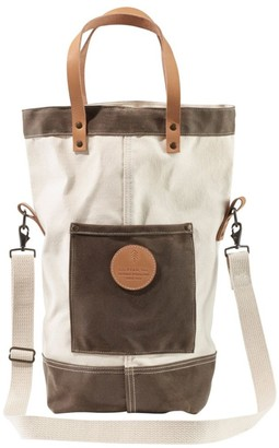 L.L. Bean L.L.Bean Utility Crossbody Tote, Waxed Canvas Trim