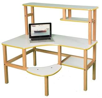 Wild Zoo Grade School Computer Desk with Optional Hutch and Printer Stand - White