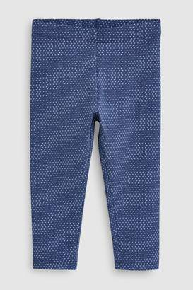 Next Girls Denim Blue Spot Leggings (3mths-7yrs)