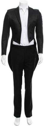 Karl Lagerfeld Double-Breasted Open Front Tailcoat