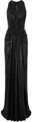 Rick Owens Gathered Lamé Gown - Black