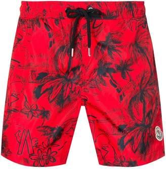 2531573d41 Moncler Scribble tropical print swim shorts