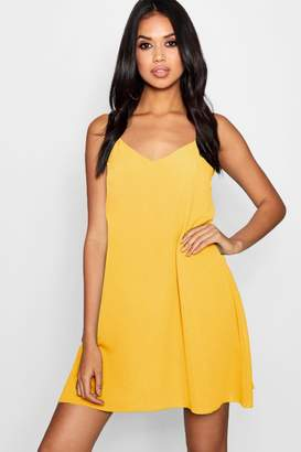 boohoo Plunge Front Woven Cami Dress