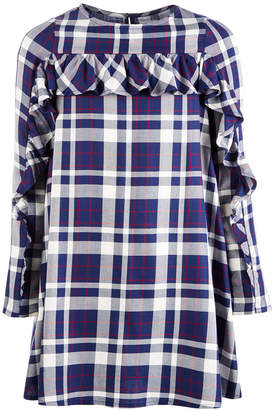 Epic Threads Big Girls Ruffle-Trim Plaid Shift Dress, Created for Macy's