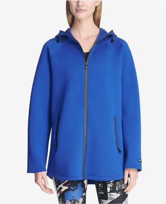 DKNY Sport Colorblocked Zip-Front Hoodie