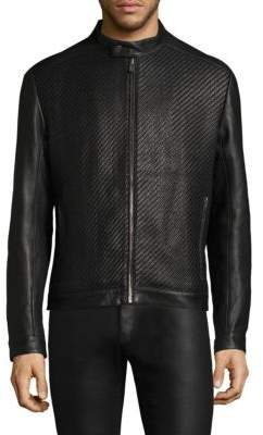 HUGO Lessco Leather Jacket