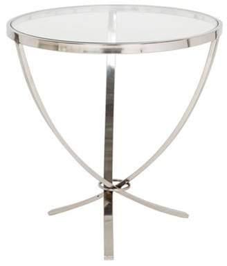clear Glass & Steel Side Table Glass & Steel Side Table