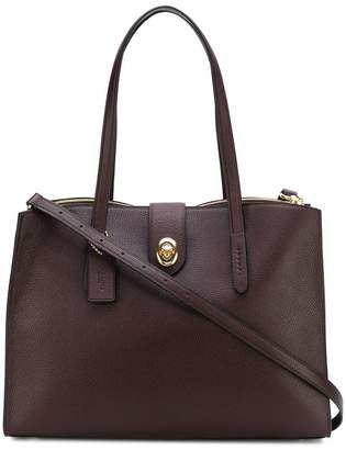 Coach turnlock Charlie tote