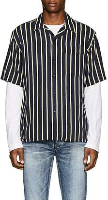 Ami Alexandre Mattiussi Men's Striped Twill Camp Shirt