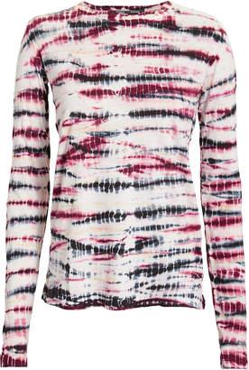 Proenza Schouler Pink Tie-Dyed Tissue Tee