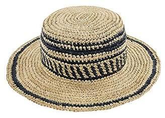 O'Neill Women's Sun Chaser Two Tone Raffia Hat