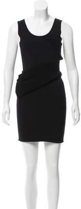 Oscar de la Renta Asymmetrical Draped Dress